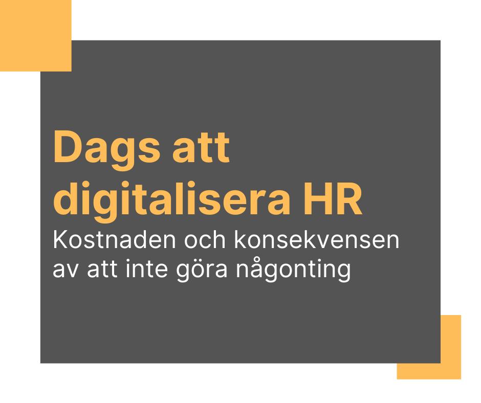 Dags att digitalisera HR